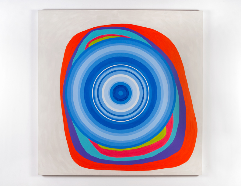 """Double Concentric"", 2008 , oil on canvas, 72 x 72 inches"