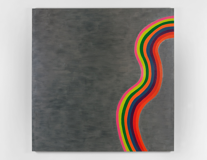 """Wavy Line"", 2008 , oil on canvas, 72 x 72 inches"
