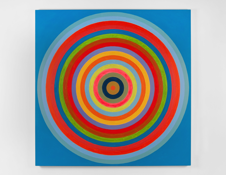 """Concentrically Concentric"", 2008 , oil on canvas, 72 x 72 inches"