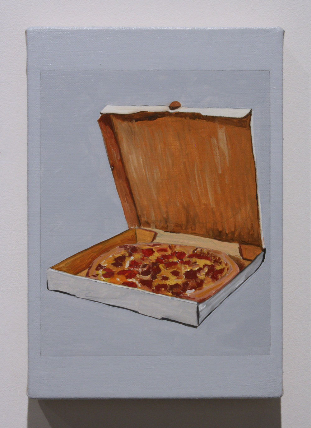 """Untitled, (Pizza)"", 2016 , oil on linen, 12 x 8 inches"