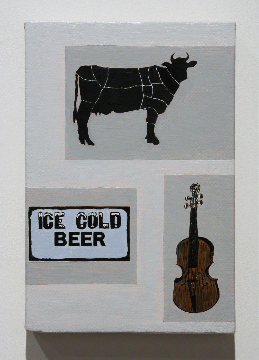 """Untitled, (Ice Cold Beer)"", 2016 , oil on linen, 12 x 8 inches"