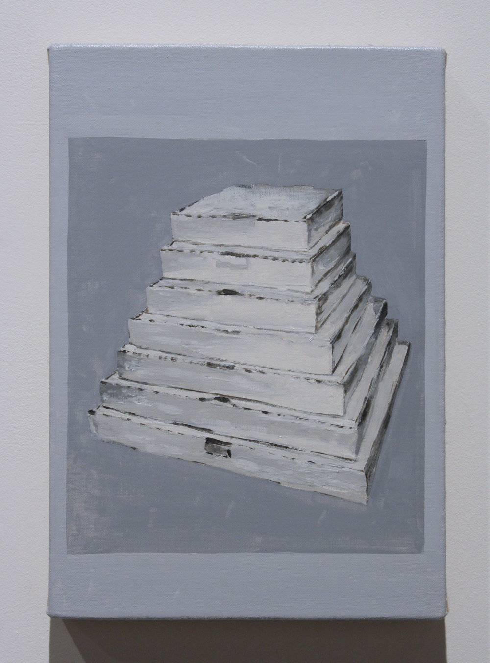 """Untitled, (Boxes)"", 2016 , oil on linen, 12 x 8 inches"
