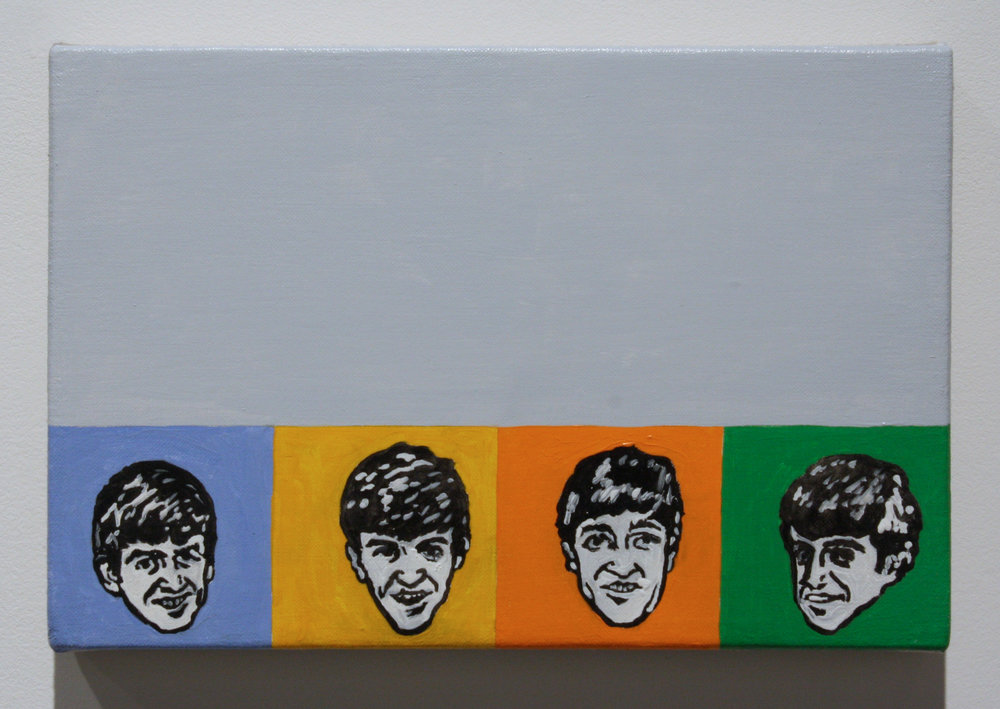 """Untitled, (Beatles)"", 2016 , oil on linen, 8 x 12 inches"