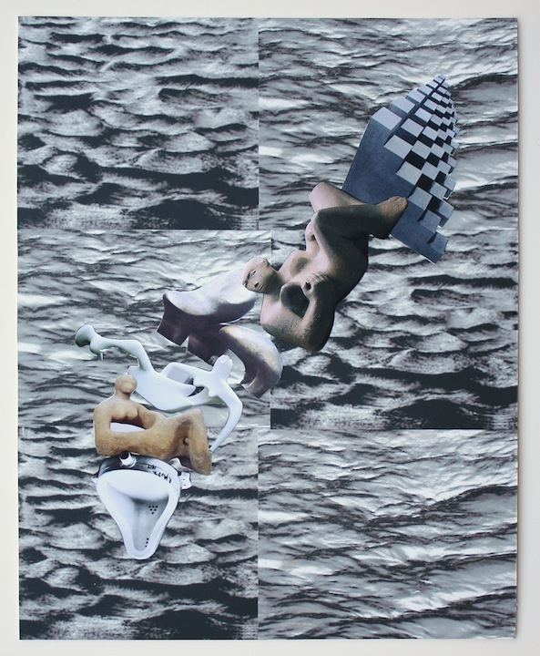 """Untitled, Sea Vessel"", 2015 , unique inkjet print collage, 20 x 16 inches"