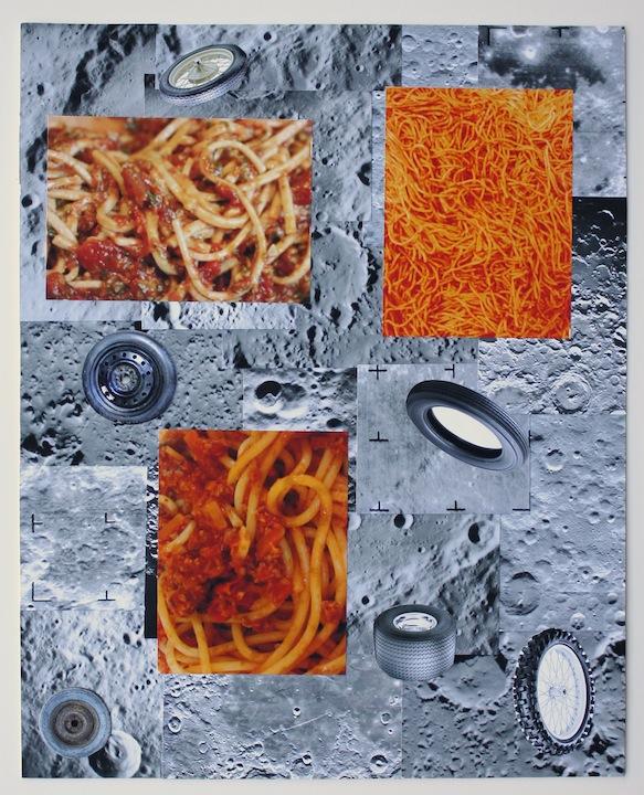 """Untitled, w/ Spaghhetti"", 2015 , unique inkjet print collage, 20 x 16 inches"