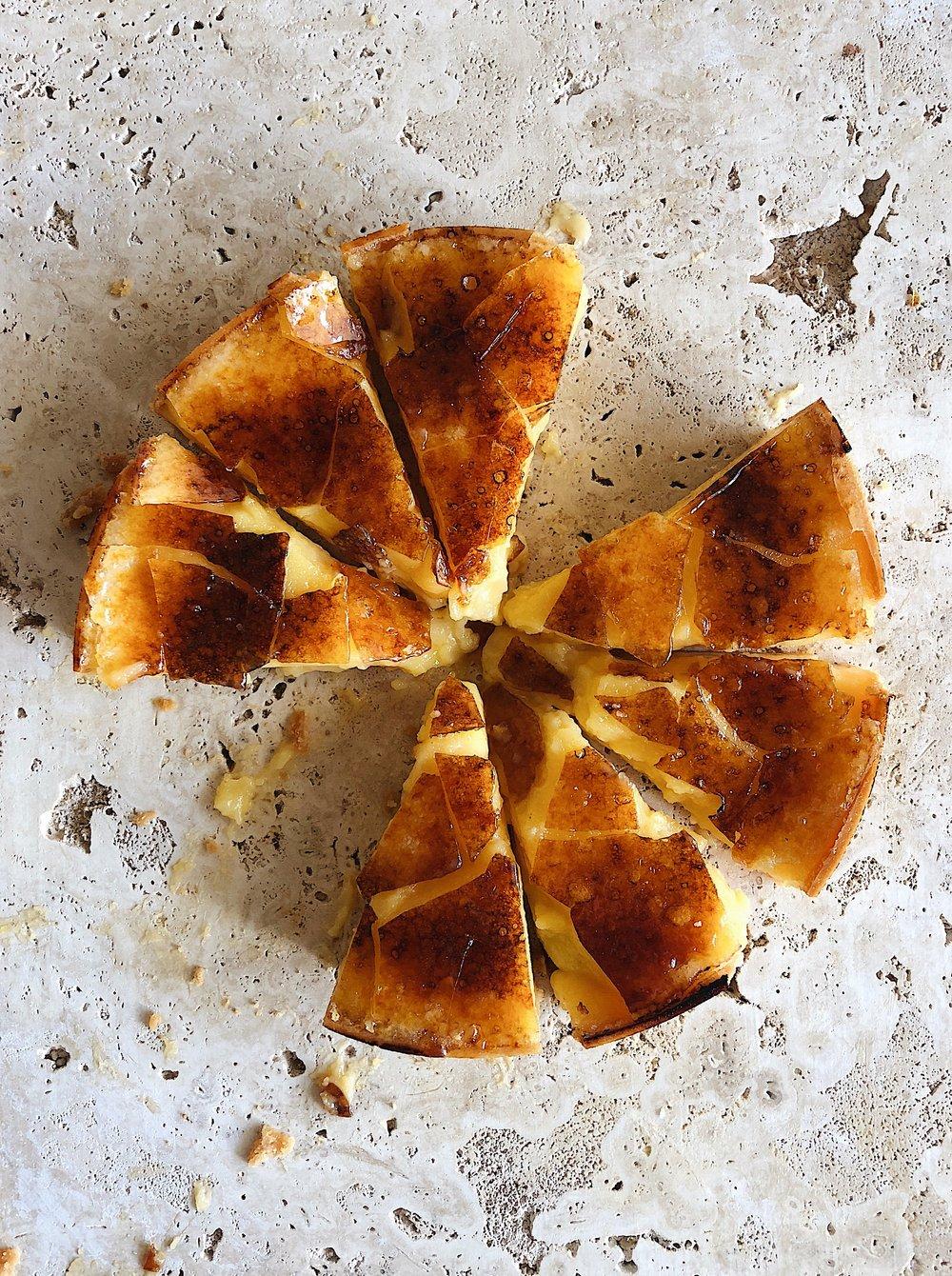 Lemon brûlée tart
