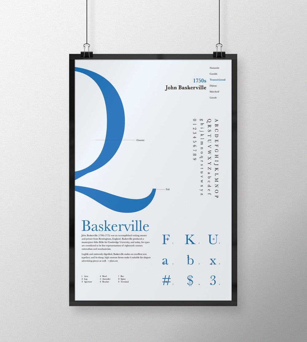 Typeface_Baskerville / Designer_John Baskerville / Date 1750s
