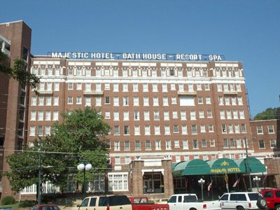 The Majestic Hotel in Hot Springs, Arkansas before its demolition.