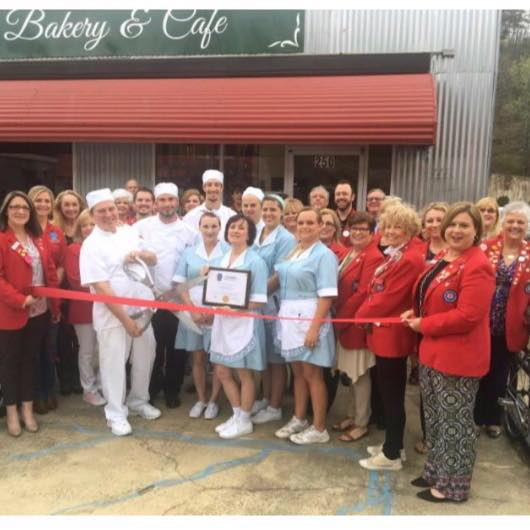 Opening day at the Majestic Bakery & Cafe.