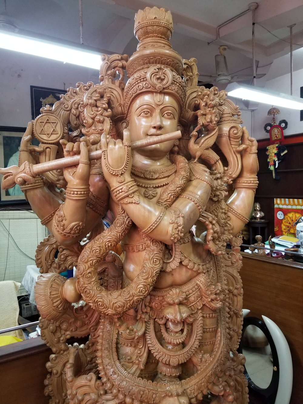 Krishna, always with a flute!