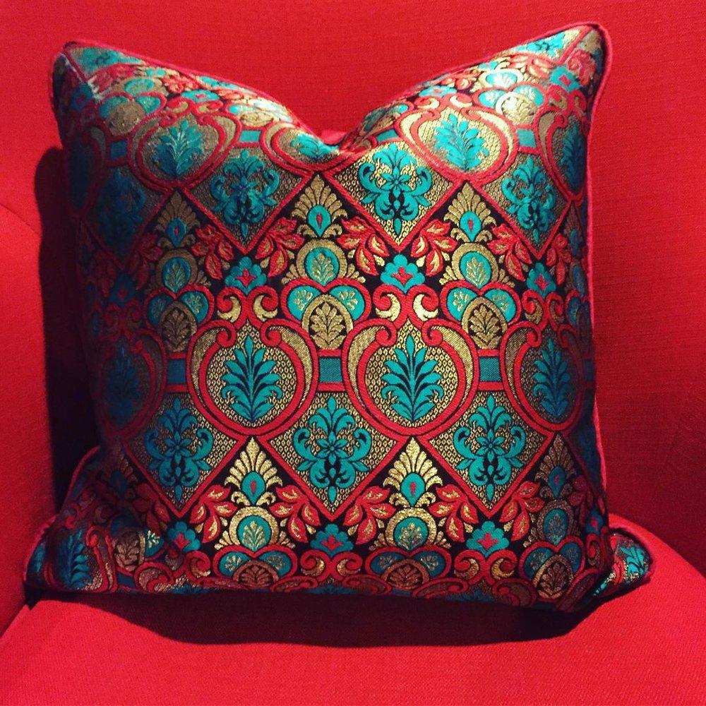 Indian silk pillow case