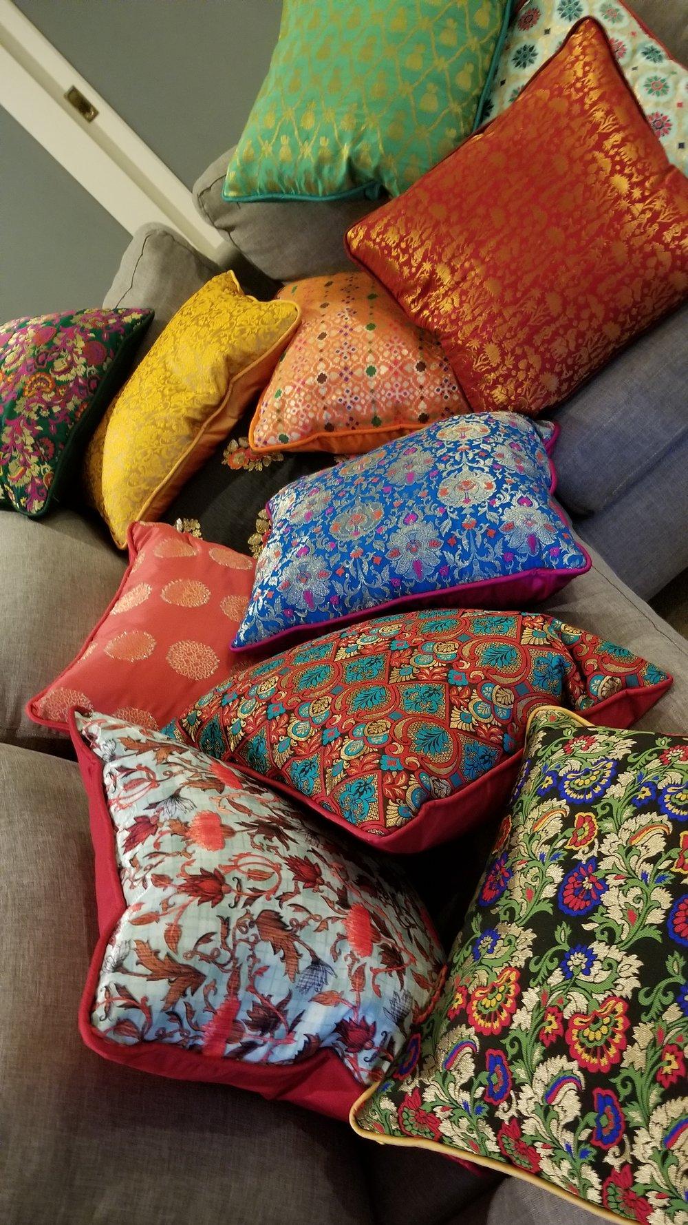 Indian silk pillow cases