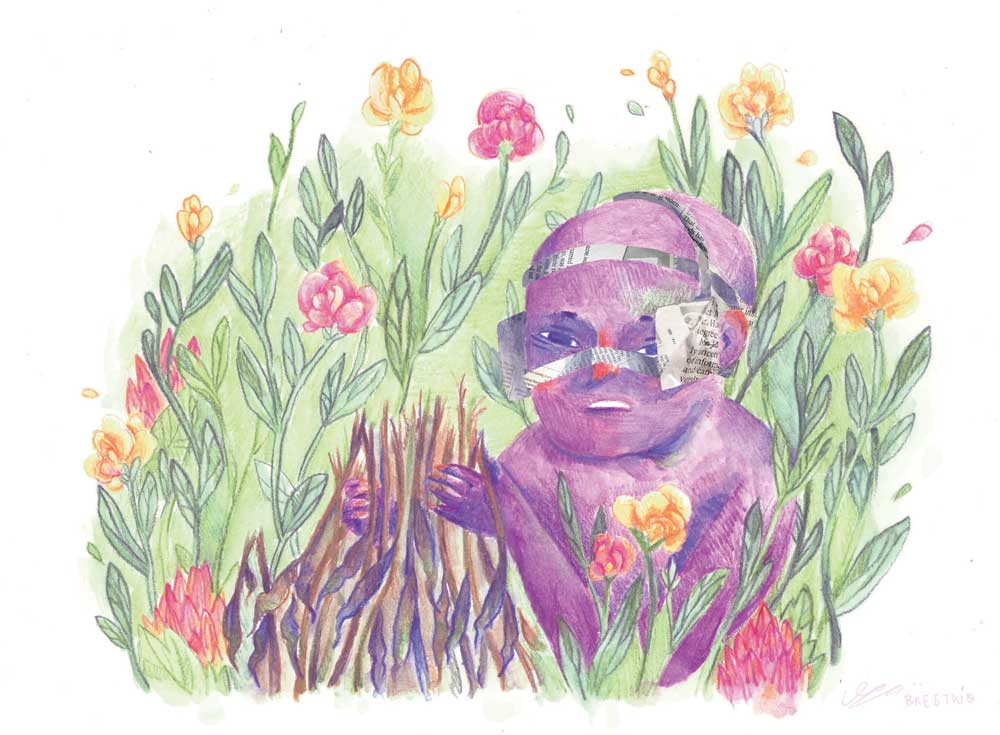 - Watercolour Pencil Crayon - Digital collage, 2016