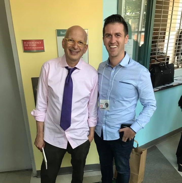 The moment I met Seth Godin in New York - a dream come true!