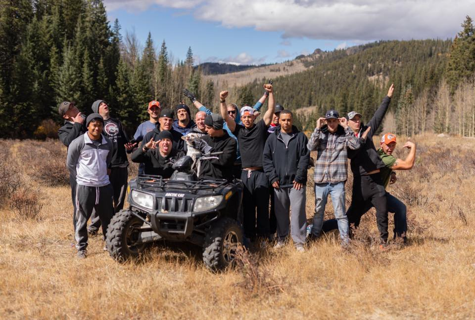 Our sober clients enjoying a camping trip in Colorado