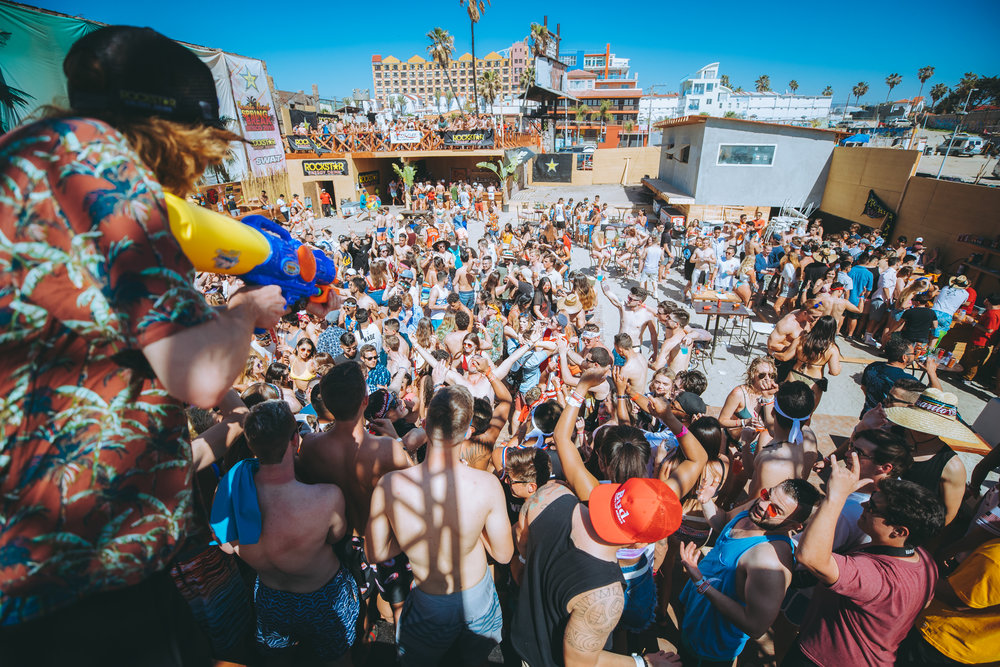 Water Gun spraying into the crowd. Spring Break Rosarito 2018 #swatup