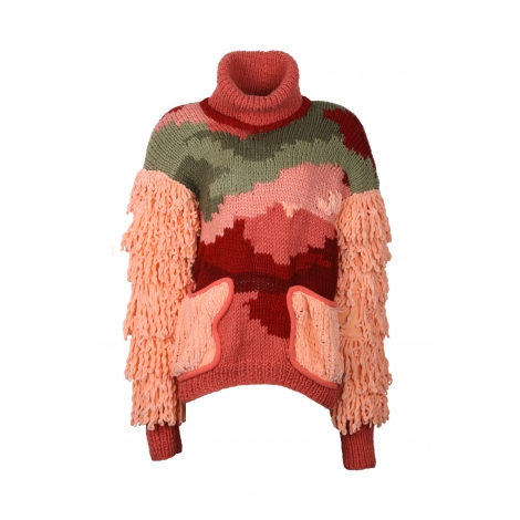 HAND-KNITTED OVERSIZE JERSEY  568 USD