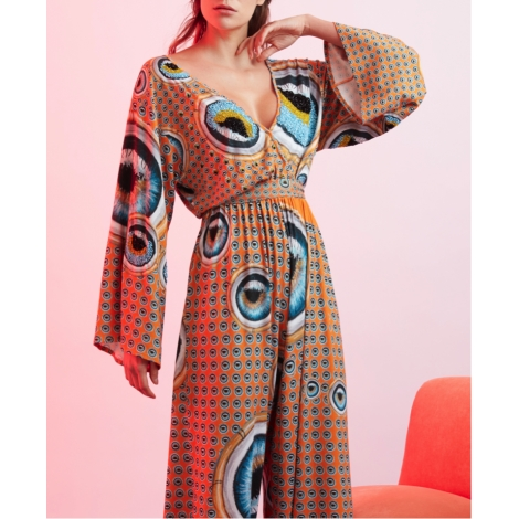 PATTERN DETAILED EMBROIDERED JUMPSUIT  349 USD