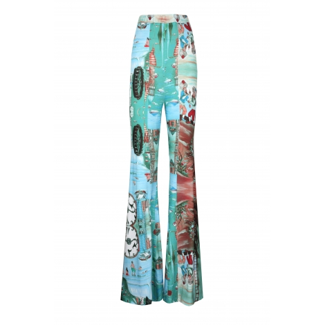 PATTERN DETAILED FLARED PANTS  159 USD