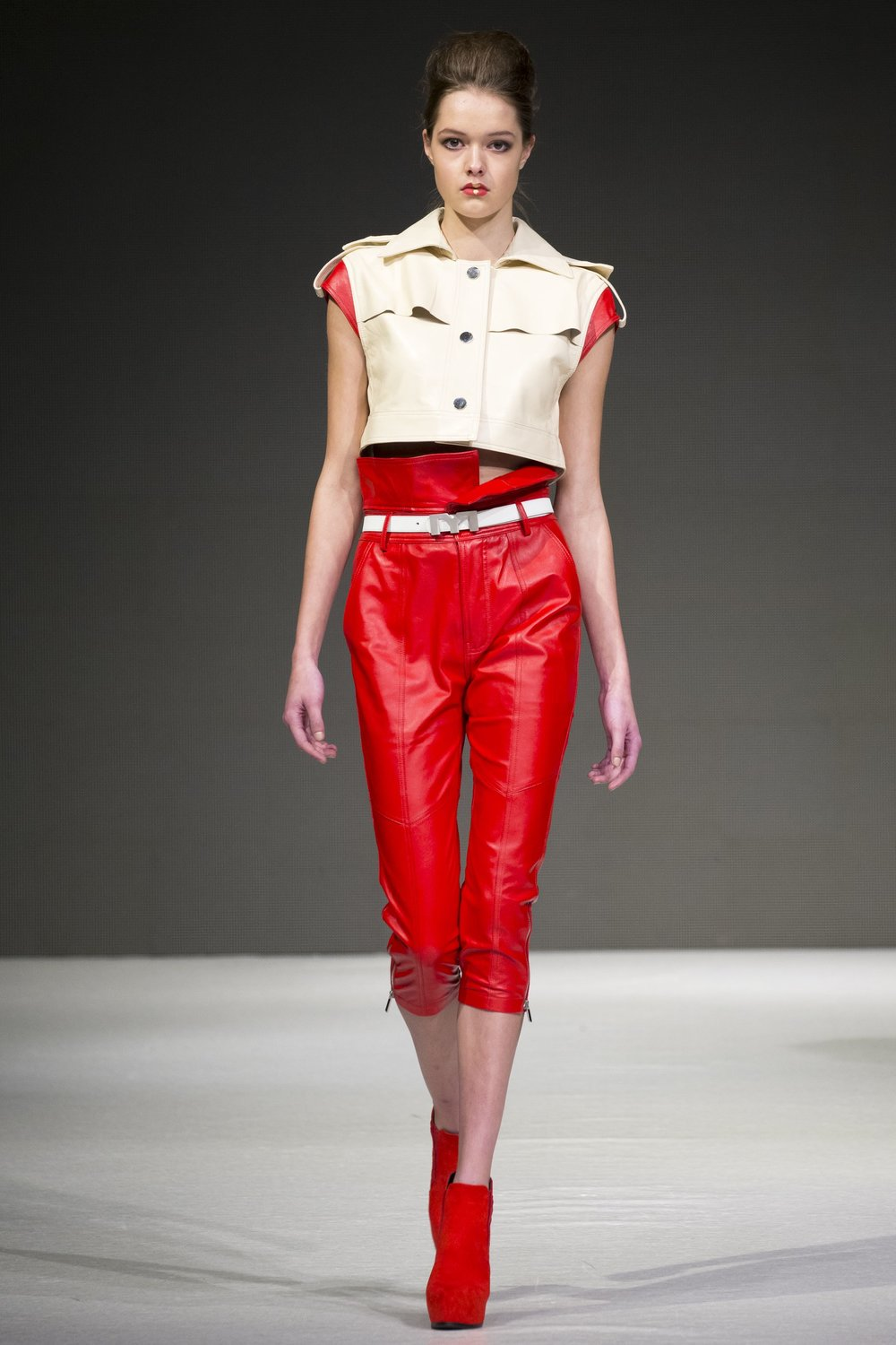 Leather Skinny Crop Pants  $400 CAD