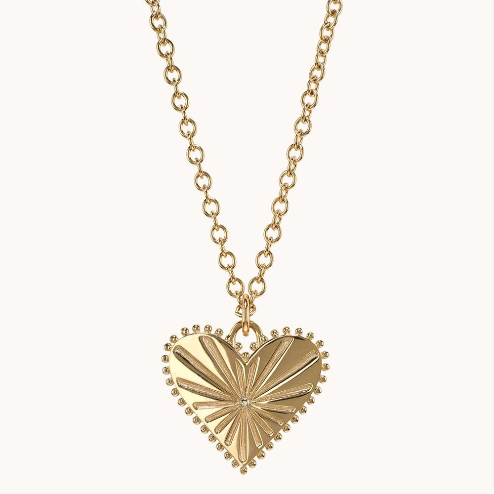 Pour Toujours Heart Coin Necklace  $3,495.00