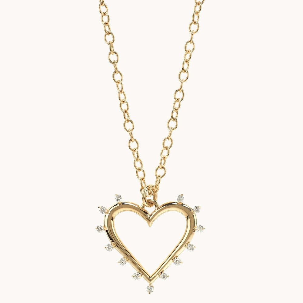 Open Heart Necklace  $4,280.00