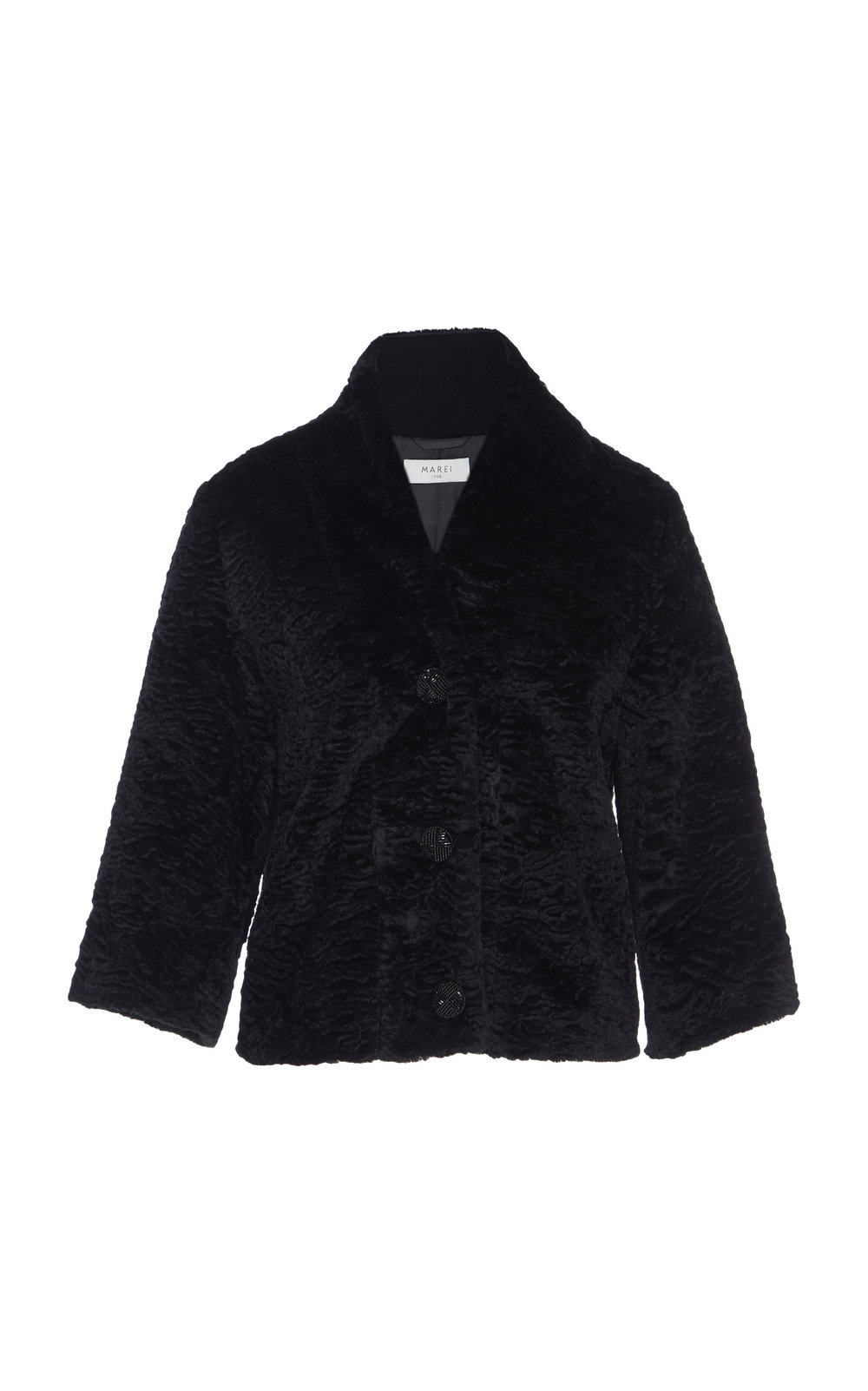 Aliella Textured Faux Fur Jacket - BLACK  Made from sumptuous textured faux fur, this jacket is an ideal winter piece. Hitting just below the waist, it adds a touch of glamor to every outfit.