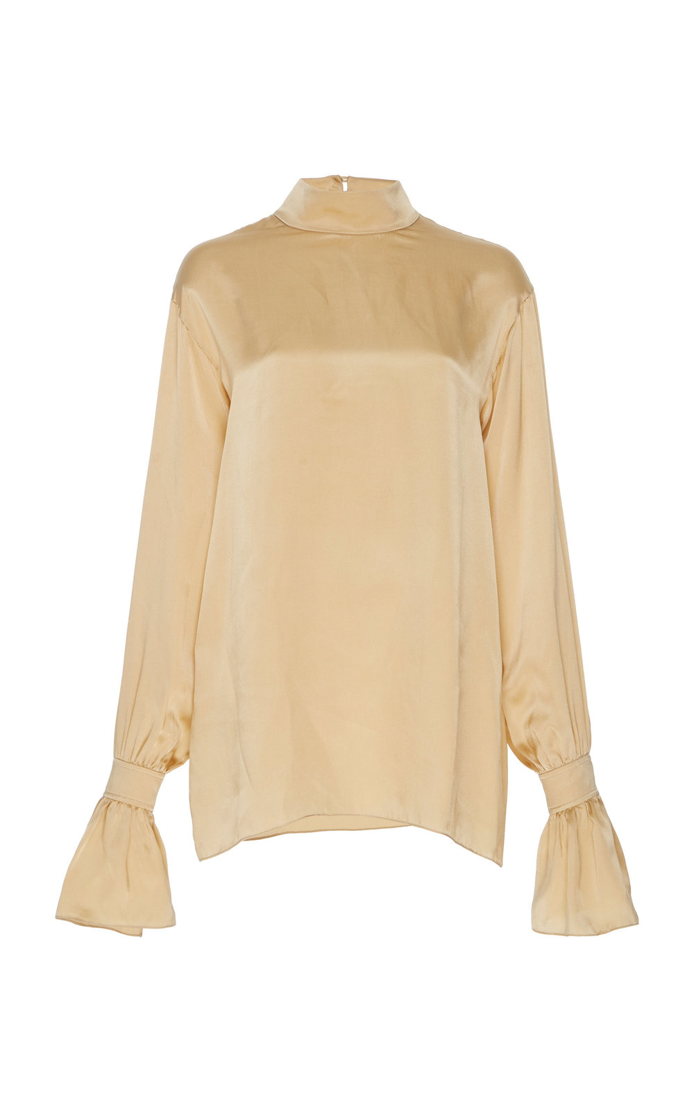Lantana Silk Jacquard Blouse - GOLD  A perfect Silk top with a relaxed fit and turtle neckline. The minimalistic shape is easy to dress and suits every occasion.