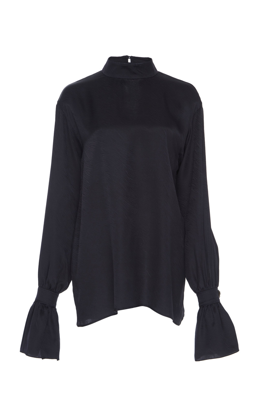 Lantana Silk Jacquard Blouse - BLACK  A perfect Silk top with a relaxed fit and turtle neckline. The minimalistic shape is easy to dress and suits every occasion.