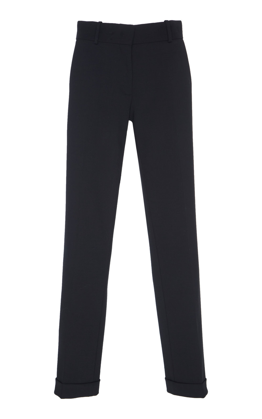 Erigeron Wool Pants - BLACK  Tailored in a narrow-leg silhouette, these pants feature sharp pressed creases. Made from a unique Wool blend, these pants are a wardrobe staple.