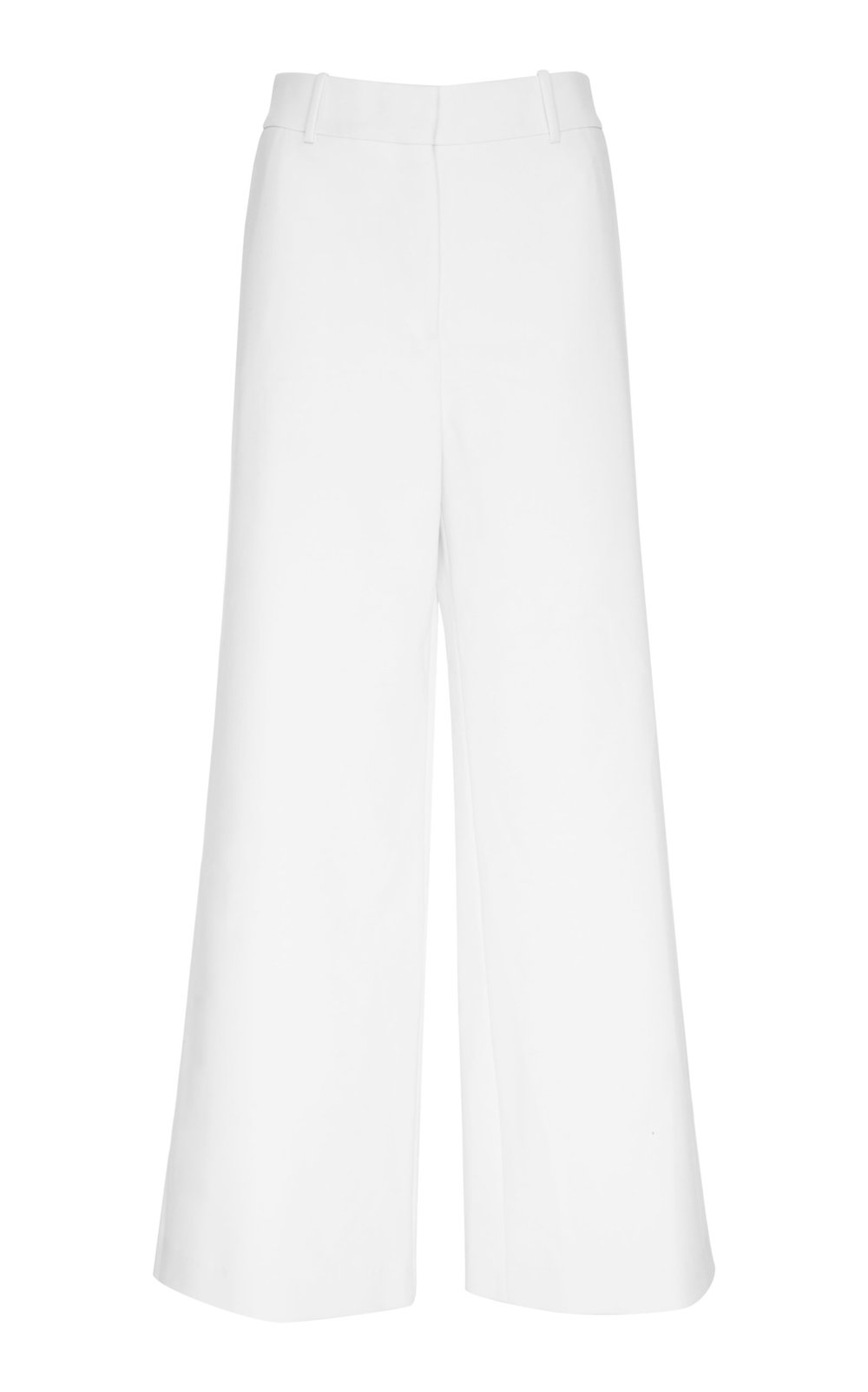 Erigeron Virgin Wool Pants - IVORY  Tailored in a wide leg silhouette and featuring high waistline, these pants are a wardrobe classic.