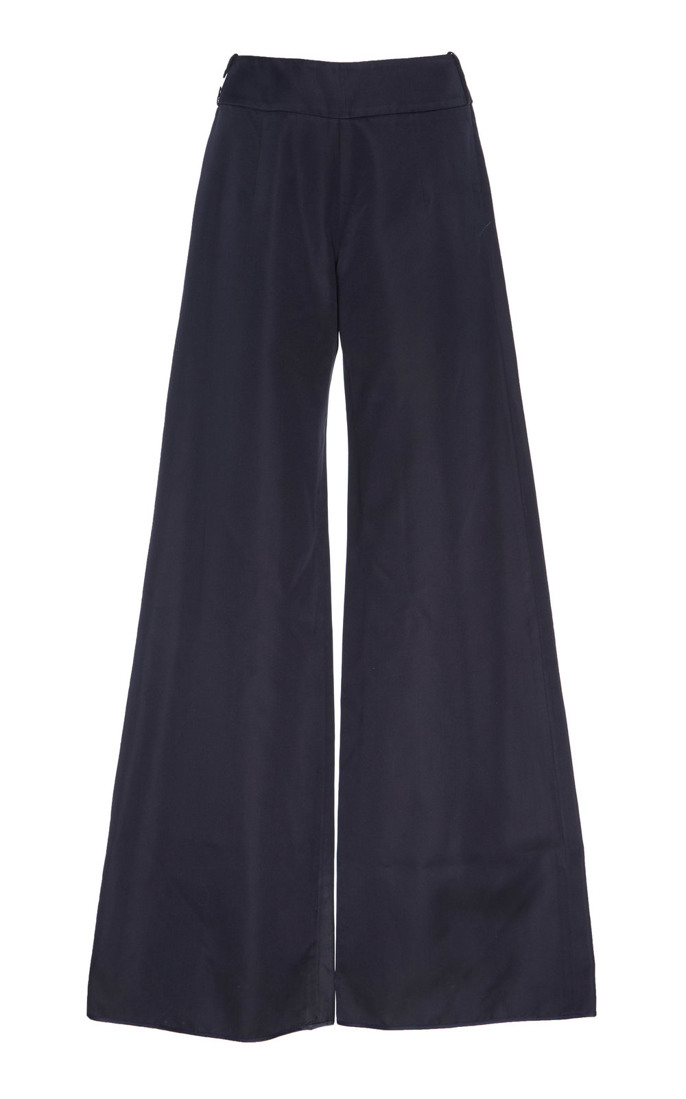 Scabiosa Silk Pants - NAVY  These unique Silk pants feature wide leg silhouette and high waistline. The lustrous fabric adds a sophisticated touch of glamour.