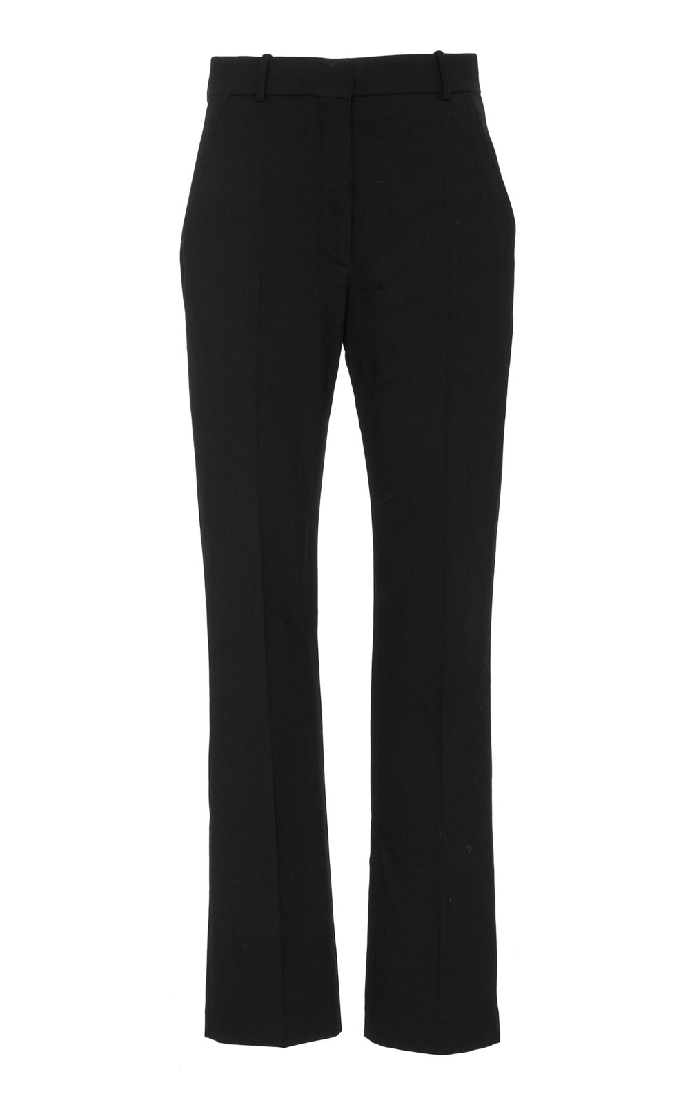 Amaryllis Tailored Wool Pants - BLACK  Sharply cut, these classic Wool pants feature a high waistline and fly closure. The straight shape provides a contemporary tailored feel. Wear yours with a matching jacket or as a sharp separate.
