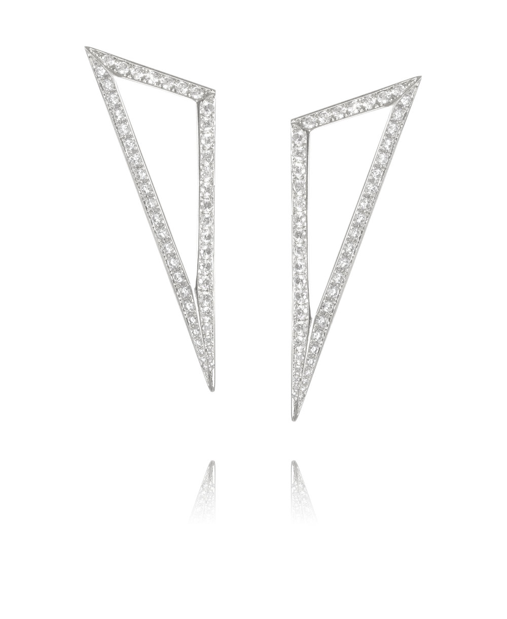 Earrings  18KT White Gold, Diamonds  REF. MOT145