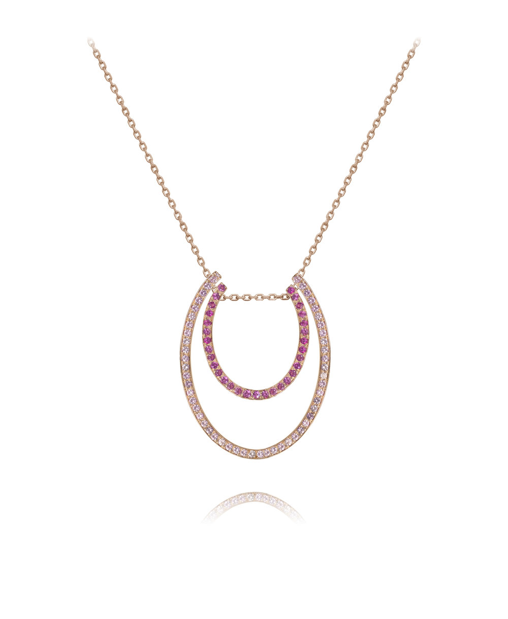 Necklace  18KT Rose Gold, Pink Sapphires  REF. MOU266