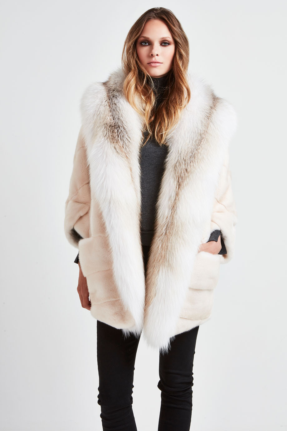 marilyn_mink_and_snow_marble_fox_real_fur_coat_pearl_white_front_CARA MILA.jpg