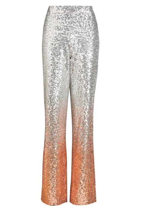 WtR Silver Sequin High Waist Flared Trousers