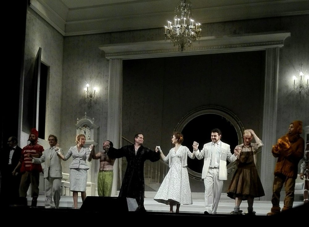 "Benjamin Britten – ""A Midsummer Night's Dream"" at Hamburger Staatsoper - Congratulations to the lovely cast of Midsummer for an adrenaline-fuelled opening night! Flying on Oberon's swing into the gods above you definitely makes every night an adventure...""Lawrence's double duty saved the 2nd half of today's performance, thanks!""magical opera adventure"