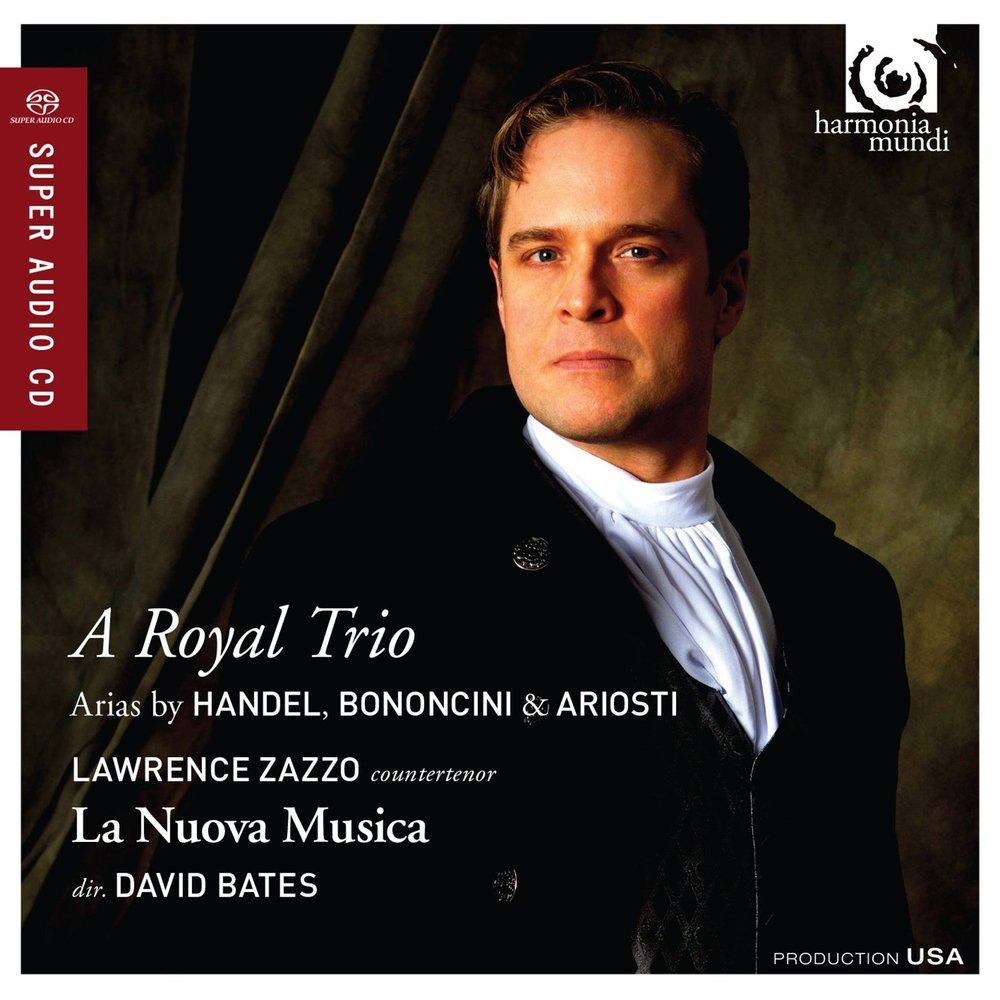 "A Royal Trio has been selected as Gramophone's Editors Choice for November - ""Zazzo's limpid delicacy, and control of nuance within a long-spun line, is as impressive as his bravura exuberance...A nature theatre animal, Zazzo 'lives' each phrase, always alive to the sound and meaning of the words...Zazzo and the players—not least the fabulous horns—have all the boldness and virtuoso panache one could wish for in the extrovert arias, culminating in a show-stopping 'Vivi tiranno'."" Richard Wigmore, Gramophone, November 2014""the exuberant Vivi, tiranno rounds things off in style,with Zazzo in glorious voice throughout"" Nicholas Kenyon, The Guardian""Genius"" The Whole Note, November 2014Click to read Lawrence's interviewClick to read reviewClick to read review"