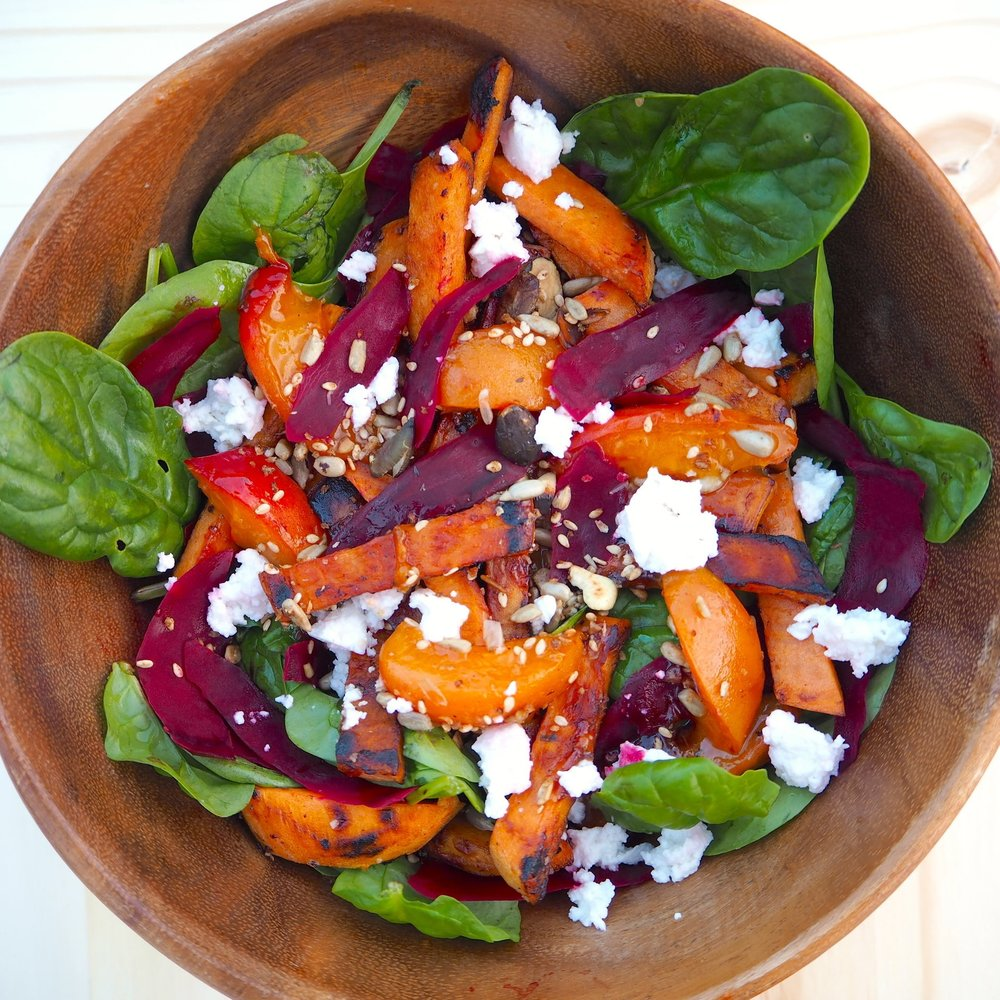Sweet potato and apricot salad