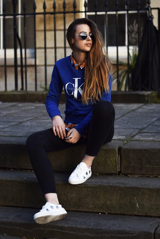 ef21bdcfafed Sweater - Calvin Klein @ Topshop, shirt - Asos, jeans - Primark, trainers -  Topshop, sunglasses - Matalan.