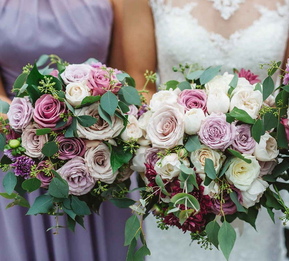 Round Posy Style Wedding Bouquets