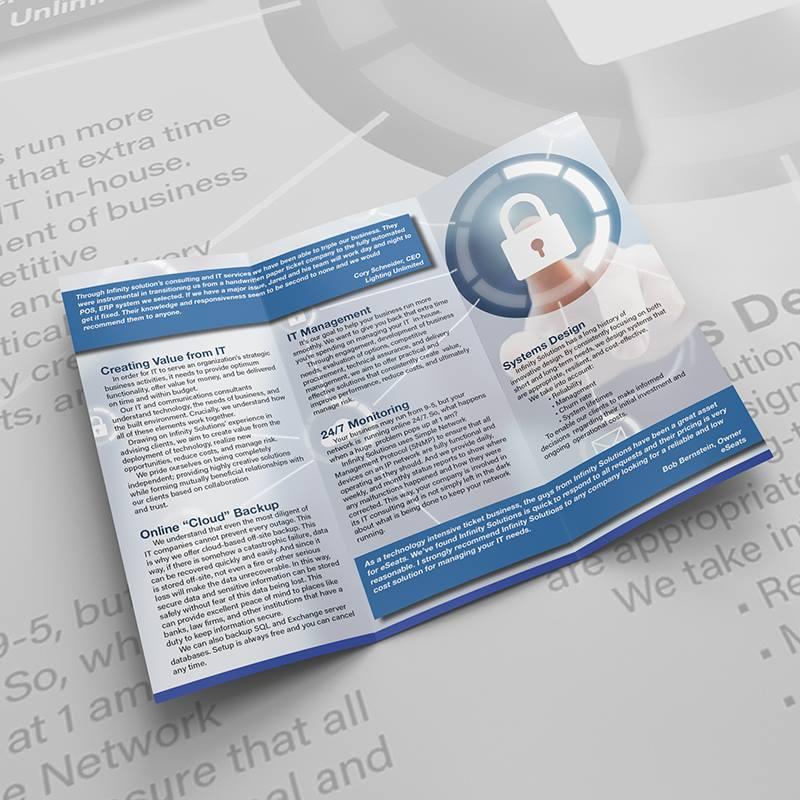 Infinity Solutions Brochure - inside