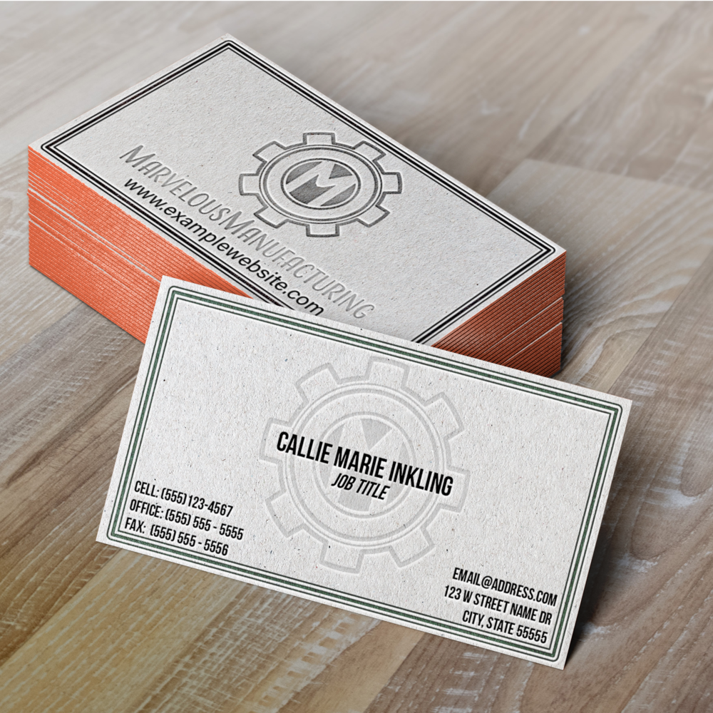 Marvelous Manufacturing Business Cards