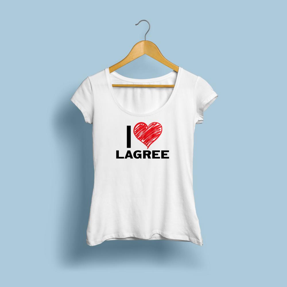 "Burn TBC Shirt Design: ""I ❤ Lagree"""