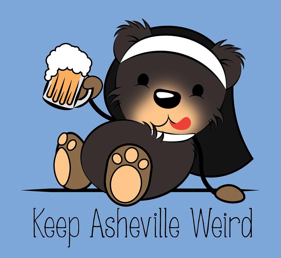"""""""Keep Asheville Weird"""" Shirt Design"""