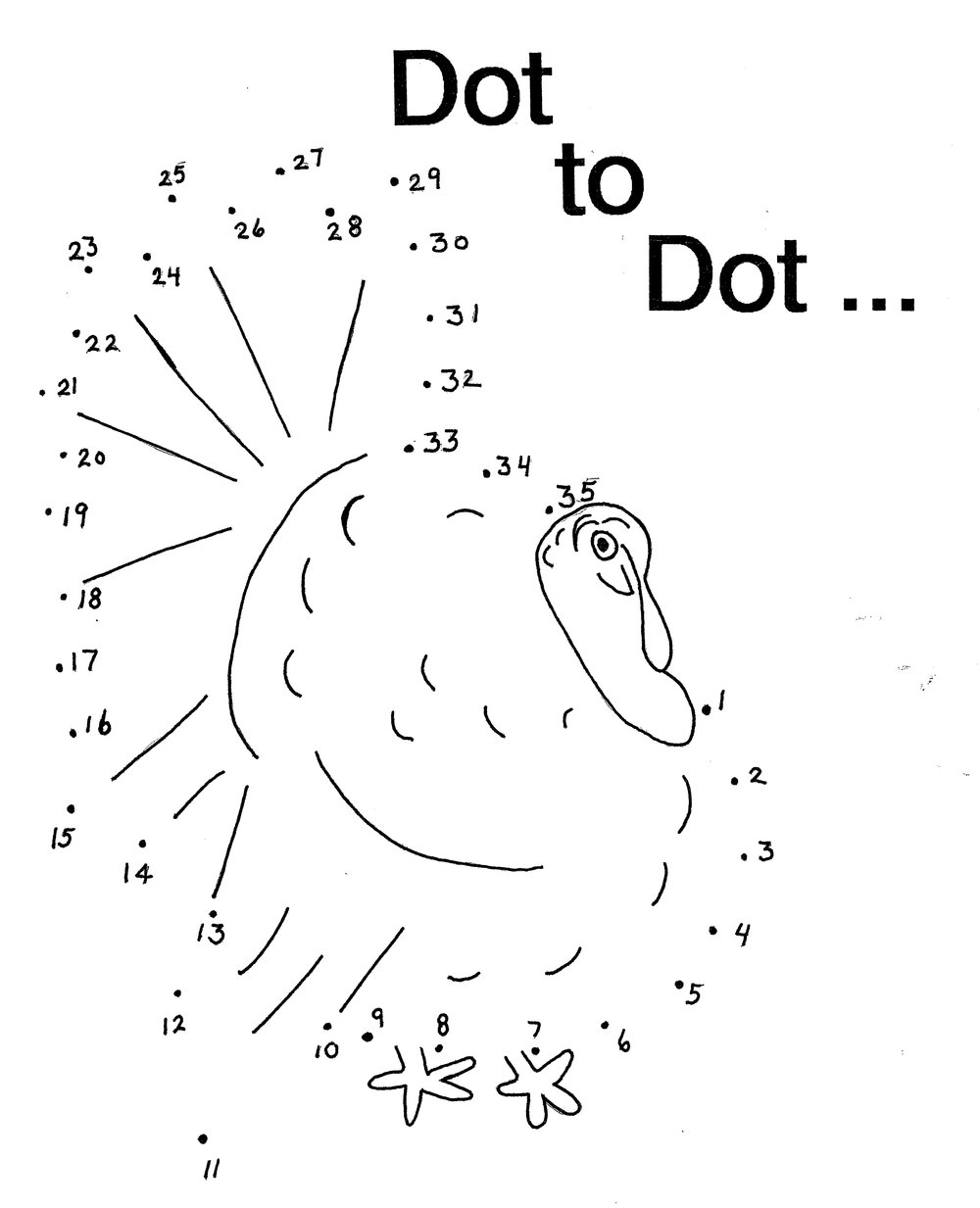 turkey dot to dot