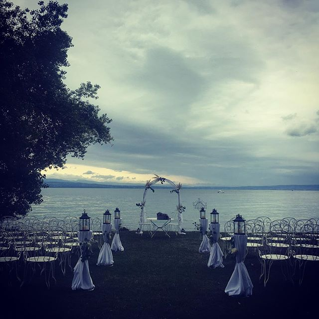 Wedding day! #chateaudecoudree #wedding #gospel #hallelujah #trio #lakeleman #ohhappyday #joyful