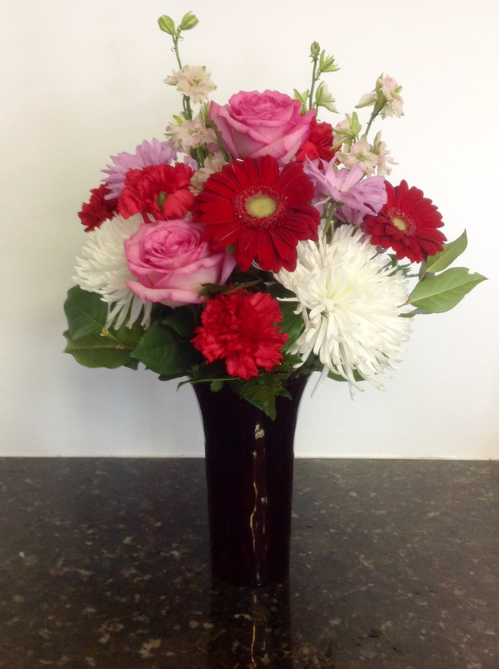 Be My Valentine Bouquet - Standard $55 • Premium (shown) $65 • Deluxe $75