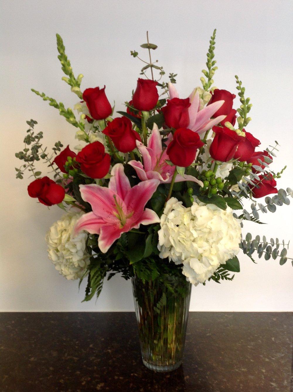 Timeless Romance Bouquet  - 1 Dozen roses $150 • 2 Dozen roses $225